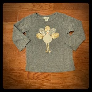 Mud Pie Sequin Turkey Shirt. Size Large (4T-5T)
